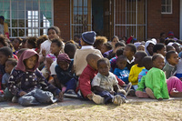 Missionvale Care Centre children sitting